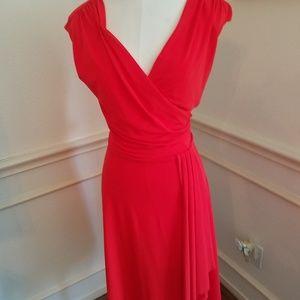 Faux wrap dress